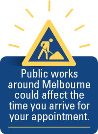 Public works around Melbourne