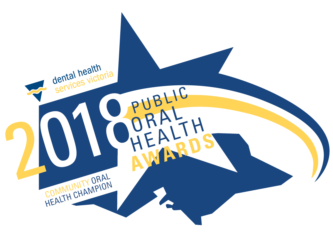 Public Oral Health Awards Logo 20183 community health champ