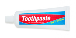 Low fluoride toothpaste