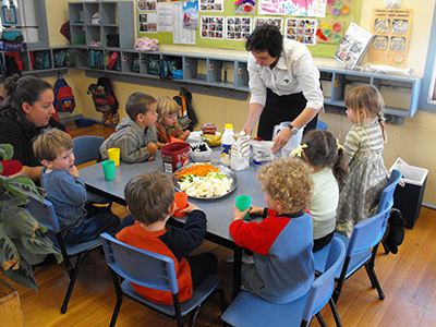 Early childhood setting eating