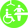 Changing places bathroom logo