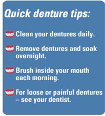 Quick denture tips